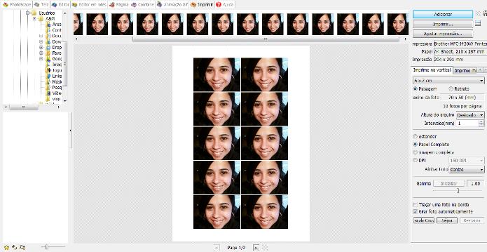 É possível configurar a impressão da imagem que deseja no Photoscape (Foto: Reprodução/Lívia Dâmaso)