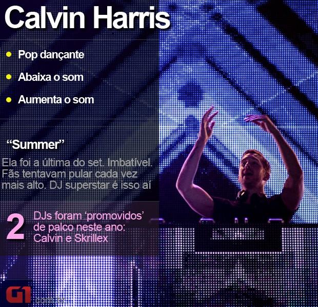 Calvin Harris - Lollapalooza (Foto: Marcelo Brandt/G1)
