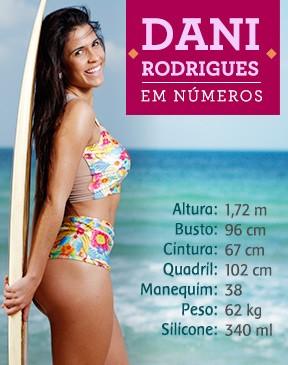 Dani Rodrigues em números (Foto: EGO)