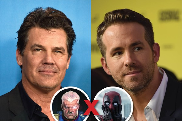 Josh Brolin (Cable) versus Ryan Reynolds (Deadpool): que comecem as trolagens! (Foto: Getty e divulgação)