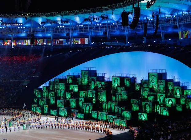Rio de Janeiro - Cerim√¥nia de abertura dos Jogos Ol√≠mpicos Rio 2016 no Est√°dio do Maracan√£. (Fernando Fraz√£o/Ag√™ncia Brasil) (Foto: Divulgação)
