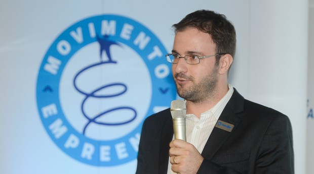 Rafael Bottós, cofundador da Welle Laser, durante a palestra no evento do Movimento Empreenda (Foto: Caio Cezar)