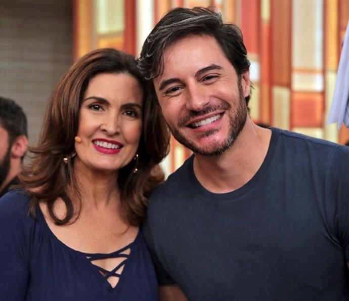 Ricardo Tozzi no 'Encontro' com a apresentadora Fátima Bernardes (Foto: Carolina Morgado / Gshow)