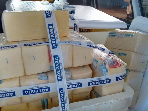 Queijo foi fabricado ilegalmente em Parauapebas, no sudeste do estado.     (Foto: Divulgação/Adepará)