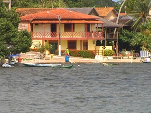 Alter do Chão cheia do rio tapajós (Foto: Roberta Freitas/ G1)