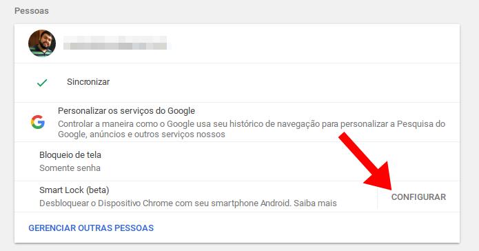 Use o Bluetooth para desbloquear o Chromebook sem senha (Foto: Reprodução/Paulo Alves)