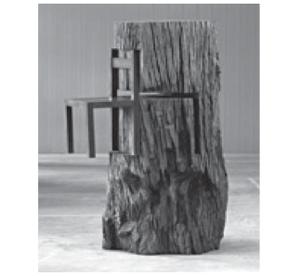 LEIRNER, N. Tronco com cadeira (detalhe), 1964. Disponível em: http://www.itaucultural.org.br. Acesso em: 27 jul. 2010. (Foto: Reprodução/Enem)