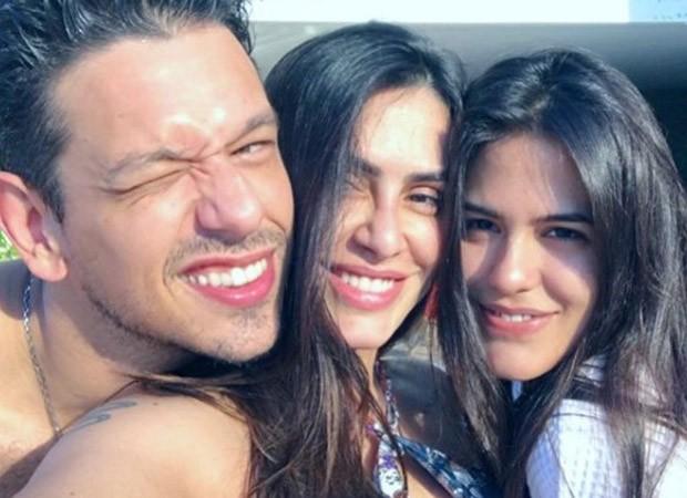 João Vicente de Castro, Cleo Pires e Antonia Morais (Foto: Reprodução/Instagram)
