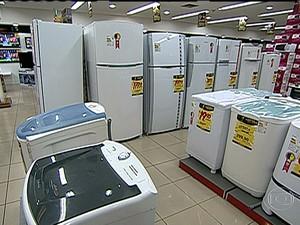 Eletrodomésticos e eletrônicos registraram maiores baixas (Foto: Reprodução Globo News)