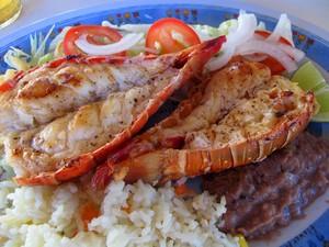 Lagosta é um prato popular em isla Mujeres (Foto: Amanda Lee Myers/AP)