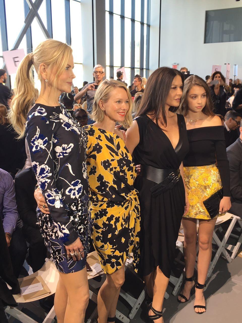 Nicole Kidman, Naomi Watts, Catherine Zeta-Jones e sua filha (Foto: Vivian Sotocorno)