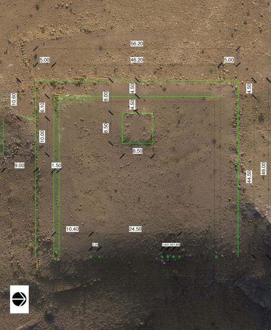 Imagem do local feita por drone (Foto: Reprodução/I. LABIANCA)