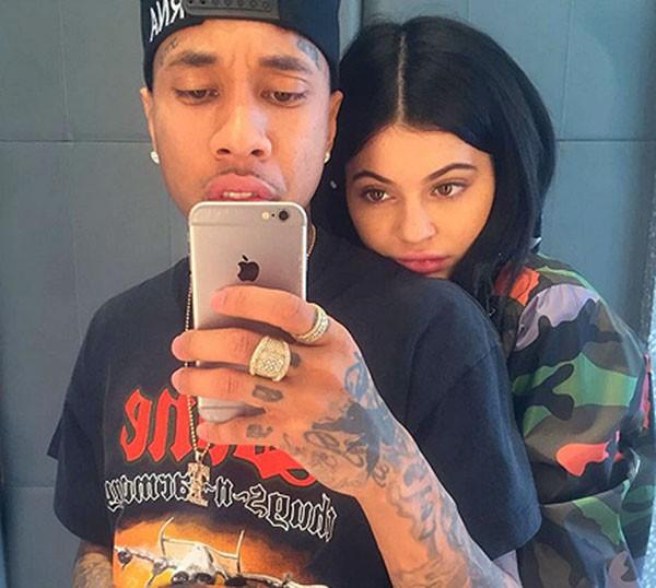 Kylie Jenner e o rapper Tyga (Foto: Instagram)