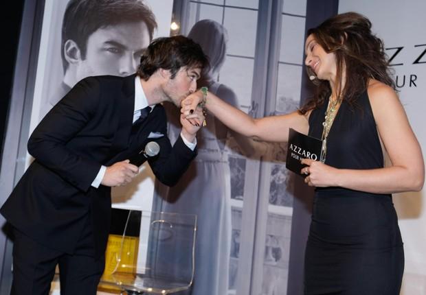 Ian Somerhalder e Sabrina Parlatore (Foto: Léo Franco/AgNews)