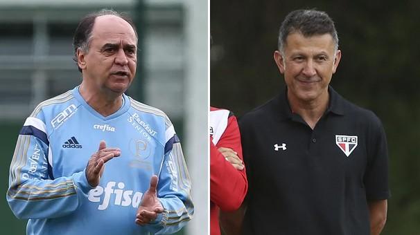 Os técnicos Marcelo Oliveira e Juan Carlos Osorio fazem o primeiro clássico no comando dos times (Foto: reprodução Globoesporte.com)