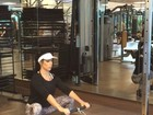 Grávida, Bella Falconi malha e publica vídeo: 'Me sinto tão bem treinando'