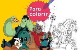 Para colorir: Banda de Rock
