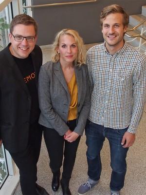 Martin, Jenny e Oskar, fundadores da Memoto (Foto: Divulgação / Memoto)