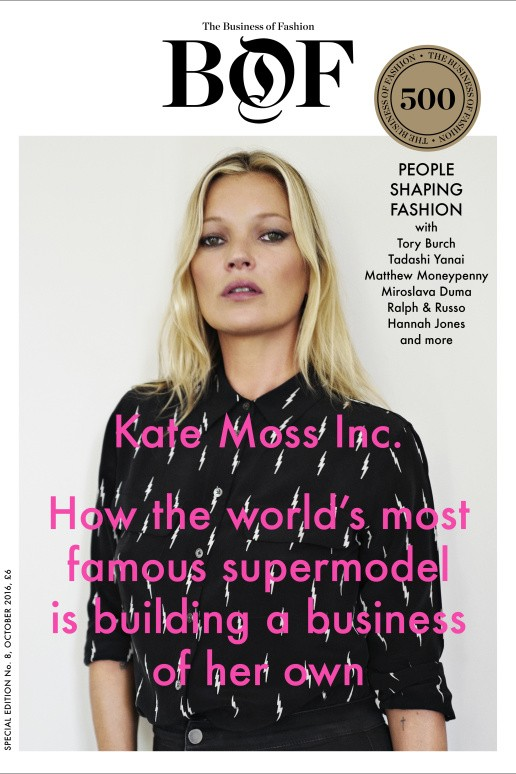 Kate Moss na capa da Business of Fashion (Foto: Divulgação)
