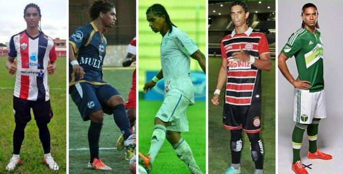 Serra, São José-RS, Cruzeiro-Poa, Santa Rita-Al são alguns dos clubes de Jeanderson antes do Porland (Foto: Montagem sobre fotos de arquivo pessoal)