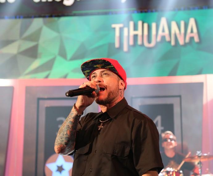 Tihuana anima a plateia e participantes neste domingo, 8/5 (Foto: Carol Caminha/Gshow)