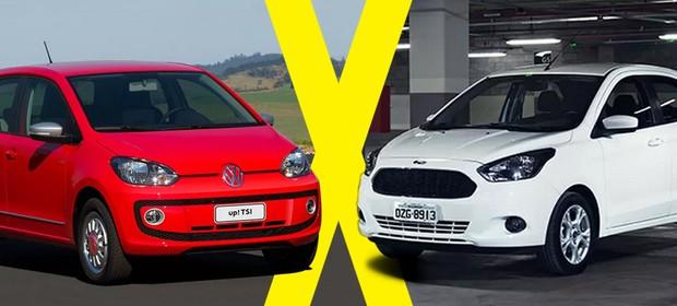 Jogo Rapido Volkswagen Up Tsi X Ford Ka Foto Autoesporte
