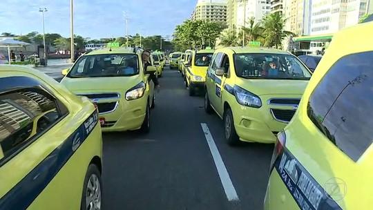 Prefeitura do Rio adverte que se trânsito for bloqueado durante protesto taxistas serão multados