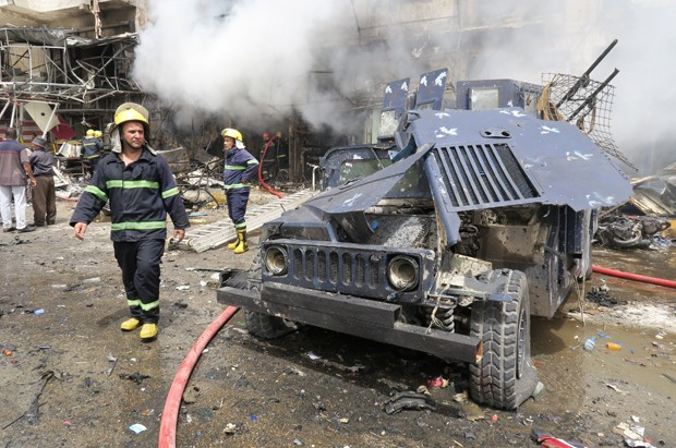 No ataque mais violento, pelo menos 19 pessoas morreram e 62 ficaram feridas (Foto: Khalid al Mousily/Reuters)