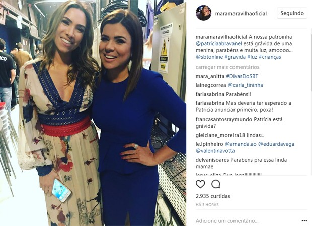 Patrícia Abravanel e Mara Maravilha (Foto: Reprodução/Instagram)