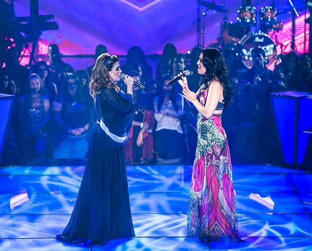 """Karina Duque Estrada e Millane Hora emocionam cantando """"Bilhete"""", de Ivan Lins (Foto: Isabella Pinheiro/Gshow)"""