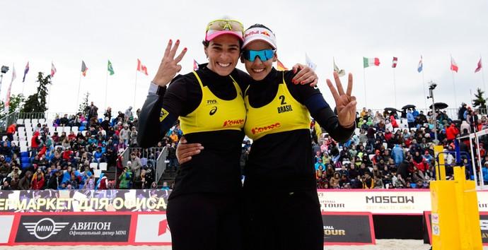 Duda e Ágatha ficaram com a terceira posição em Moscou (Foto: Divulgação/FIVB)