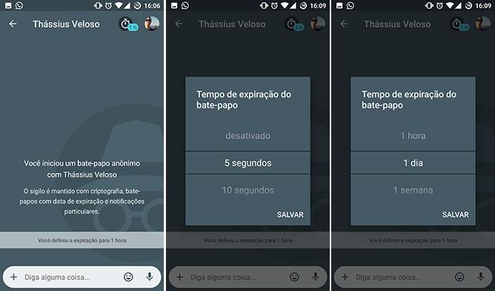 Google Allo tem chat privado com mensagens autodestrutivas (Foto: Reprodução/Elson de Souza)