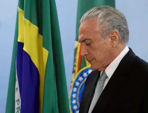 O presidente Michel Temer ouviu os crimes de Joesley e nada disse (Foto:  Adriano Machado/ÉPOCA)
