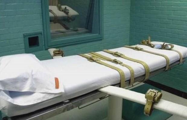 Câmara da morte no Texas, estado americano que mais aplicou a pena de morte no ano passado (Foto: AP)