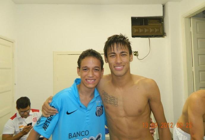 Calebe Corrêa é fã de Neymar e torcedor do Santos (Foto: Reprodução/Facebook)