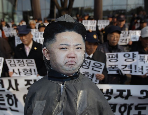 Protestos contra Kim Jong-Un (Foto: getty images)