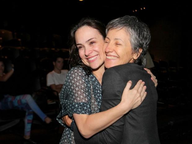 Gabriela Duarte e Cássia Kis Magro em peça na Zona Sul do Rio (Foto: Anderson Borde/ Ag. News)