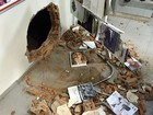 Buraco é aberto em prédio de banco em Santana durante tentativa de roubo