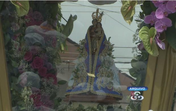 Imagem de Nossa Senhora de Nazaré terá casa da berlinda em Macapá. (Foto: Reprodução/TV Amapá)