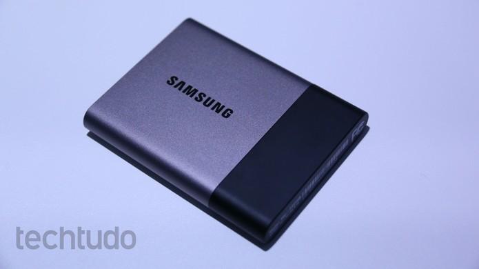 SSD T3 é portátil e bastante leve (Foto: Marlon Câmara/TechTudo)