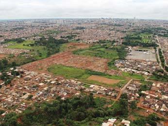 Vista aérea do Setor Habitacional Sol Nascente (Foto: Agefis/Divulgação)