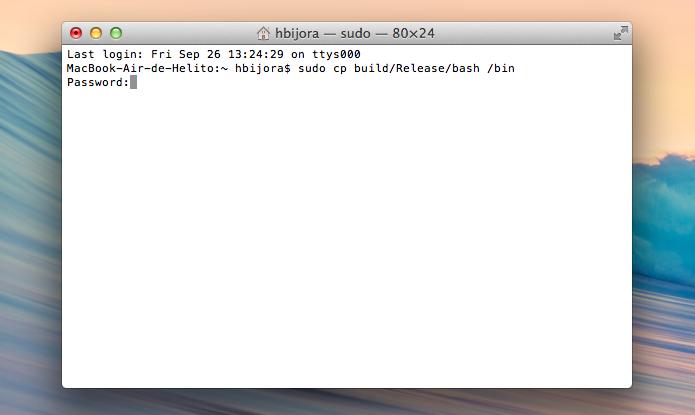 Atualizando o Bash no OS X (Foto: Reprodução/Helito Bijora)