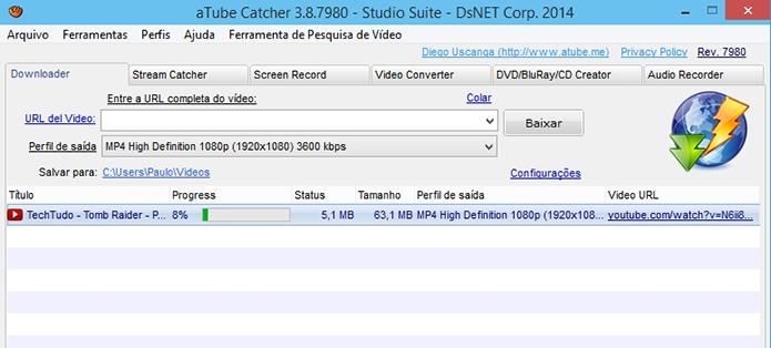 Atube Catcher é o mais conhecido para fazer download de vídeos, mas Real Player também o faz (Foto: Reprodução/Paulo Alves)