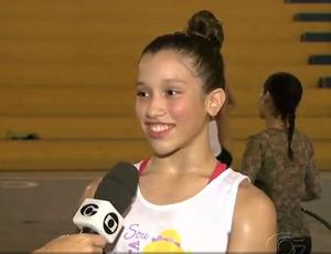 Letícia Resende, ginasta alagoana (Foto: Reprodução, TV Gazeta)