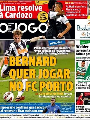 capa O Jogo Bernard Porto (Foto: Reprodução / O Jogo)