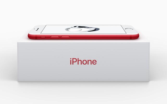 iPhone 7 vermelho (Foto: Divulgação/Apple)