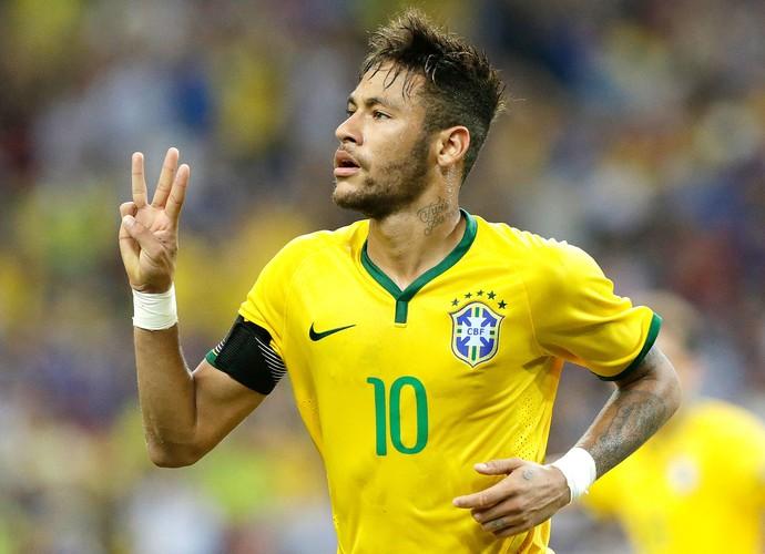 Neymar gol Brasil x Japão (Foto: AP)