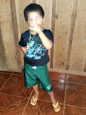 Altura de criança equivale a cinco anos de idade, diz médico (Foto: Arquivo da família)