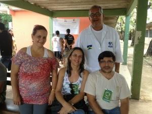Professores da escola Rio Branco (Foto: Ivanete Damasceno / G1)