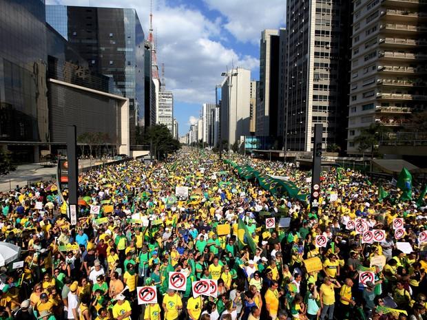 Todos os estados e o DF têm protestos contra o governo Dilma